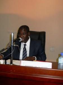 Le ministre Adama Traoré. Photo Burkina24