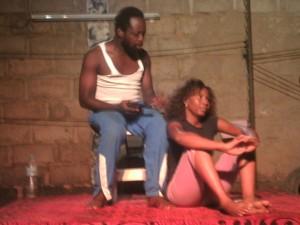 Mahamadou TINDANO et Laure GUIRE en action