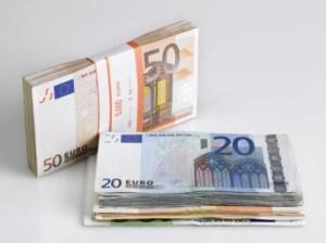 Photos de coupures d'euros.