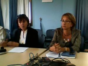 De gauche à droite, Mmes Miria Pigato et Galina Satirova. Photo: Burkina24