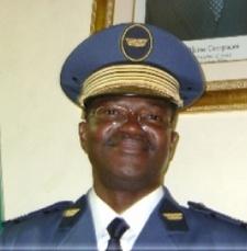 Le nouveau chef d'Etat major de l'armée de l'air, Col. major Théodore N. Palé Ph: Burkina24