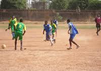 Des élèves lorrs d'un match de football. Photo: Lefaso.net