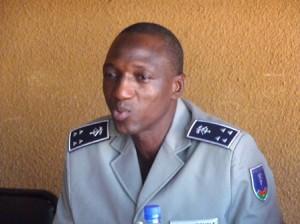 Le directeur régional de la police nationale du Centre par intérim. Photo: Burkina24