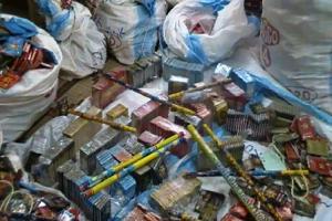 Un lot de pétards saisis. Photo: Burkina24