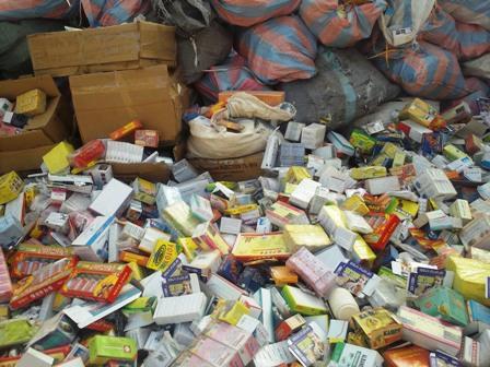 Faux médicaments saisis. Photo: Burkina24