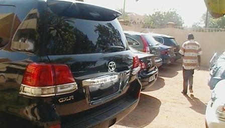 vue de quelques véhicules saisis. Photo: Burkina24