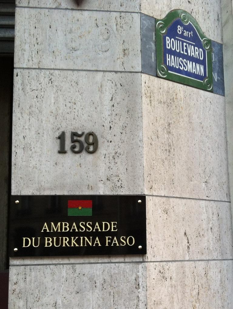 Ambassade du Burkina à Paris