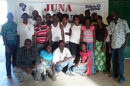 Les futurs membres de la troupe théâtrale de la JUNA  (Ph : B24)