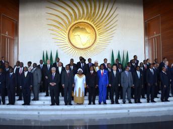 Les chefs d'Etats de l'Union africaine réunis à Addis-Abeba. REUTERS/Tiksa Negeri
