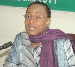 Koumba Barry, ministre de l'Education nationale et de l'alphabétisation (Ph : Dr)