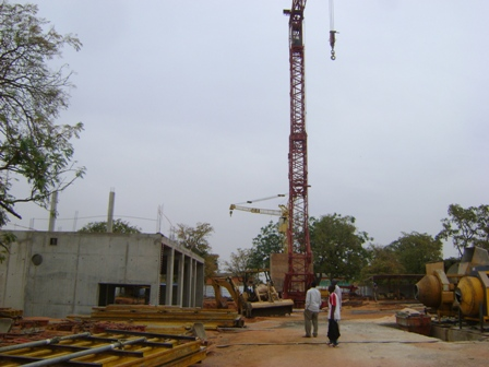 Le chantier du site d'extension de la production de Nasso. Ph.B24