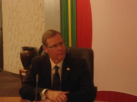 L'ambassadeur du Canada au Burkina Faso, Ivan Roberts (Ph. B24)