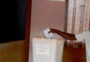 Un électeur ayant accompli son devoir citoyen (Ph : B24)