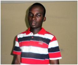 Bernard Bamogo, le lauréat burkinabè.