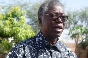 """Alfred Sawadogo, représentant du SPONG : L'aide alimentaire, """"est-ce une fatalité pour nous ? Un phénomène irréversible ? Nous disons : NON ! """" (Ph : B24)"""