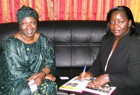 Mariam Sy Diawara, et Nestorine Sangaré, Ministre burkinabè de la promotion de la femme. Ph.B24