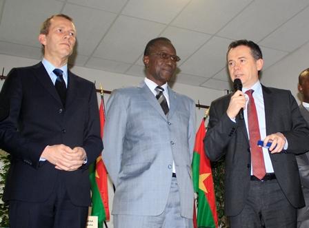 Guillaume Garot, Abel Toussaint Coulibaly et Jean-Christophe Boyer