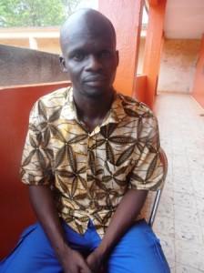 En grève de la faim depuis le 21 mars 2013, Seydou Ouédraogo a perdu plusieurs kilos (Ph : B24)