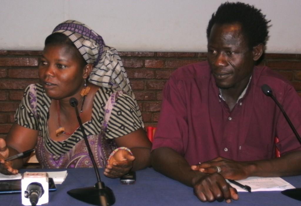 De gauche à droite: Mamounata Nikiéma Secrétaire Générale et Wabinlé Nabié, Président de AFRICADOC Burkina