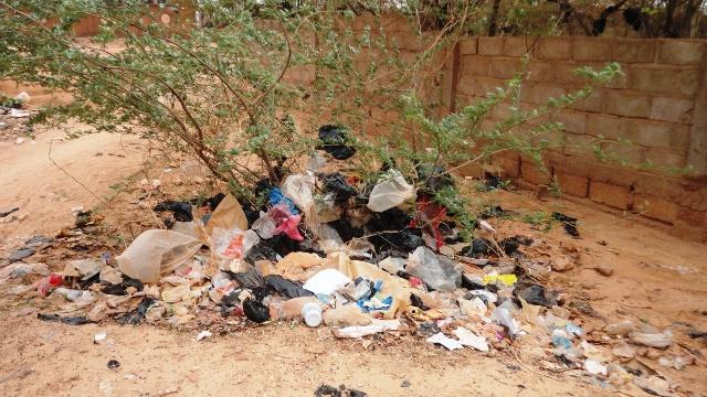 Les sachets plastiques se comportent en véritables conquérants à Ouaga (Ph : B24)