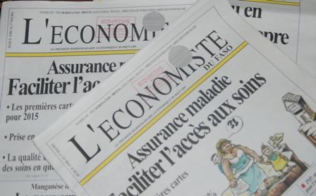 Le dernier numéro de l'Économiste du Faso. Ph.B24
