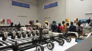 Le chef du gouvernement burkinabè a également visité une imprimerie qu'il juge exemplaire (Ph : B24)