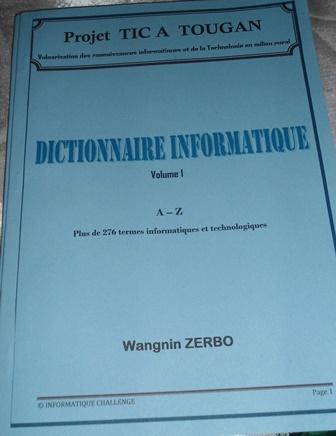 Voilà comment se présente le dictionnaire informatique (Ph. B24)