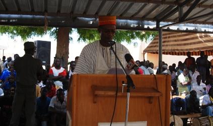 Le Laarlé Naaba, parrain de la cérémonie de commémoration de la fête des mères à la MACO. Ph.B24