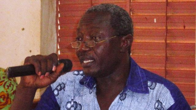 """Mamadou Barro, SG du F-SYNTER : """"L'usage de la force par les forces de l'ordre était disproportionné"""" (Ph : B24)"""