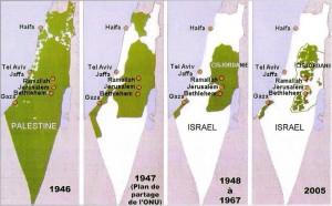 Les territoires palestiniens depuis 1946