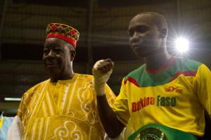Yoyo, champion d'Afrique ABU en catégorie super-coq (Ph. Florian Vallée)