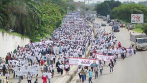 Vue d'une partie des manifestants le 11 Mai dernier