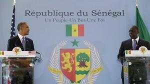 Macky Sall et Obama lors de leur conférence de presse conjointe