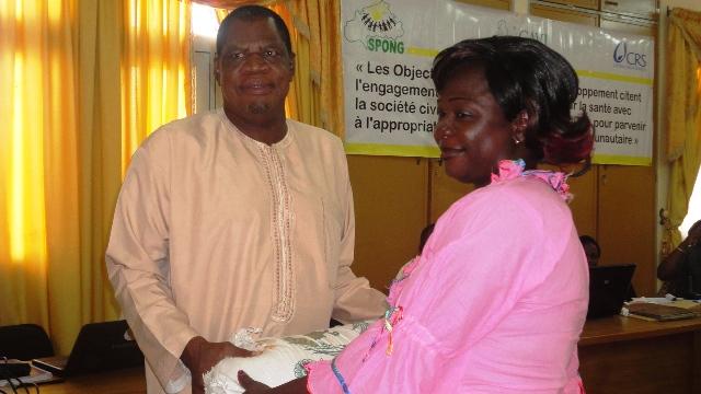 Le Vice-président du SPONG, Yacouba Zèba (à g.) (Ph : B24)