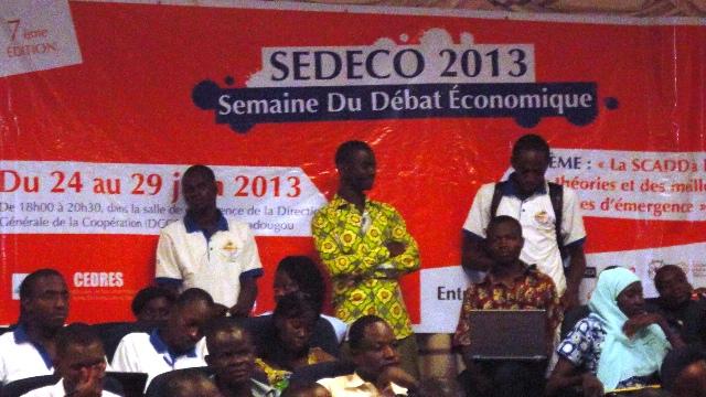 Le débat est ouvert à la 7e  SEDECO (Ph : B24)