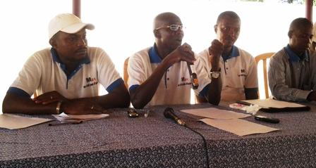 Les responsables du M21 en conférence de presse ce vendredi 07 juin 2013. Ph. Basidou Kinda
