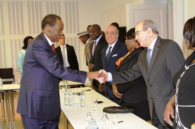 Blaise Compaoré à la rencontre avec les chefs de mission diplomatique d'Afrique en Autrice (Ph : Presidence.bf)