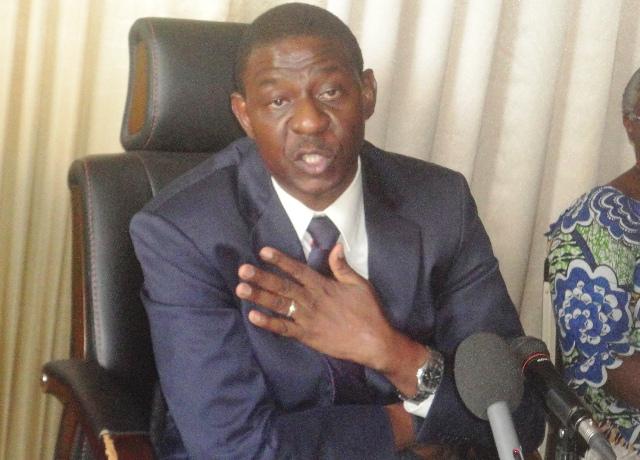 """Alain Edouard Traoré, ministre de la Communication : """"Nous ne sommes pas un ministère de la propagande"""" (Ph : B24)"""