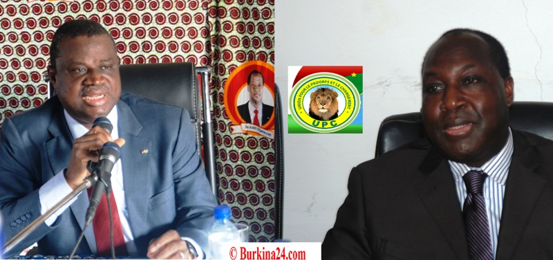 Le SEN du CDP Assimi Koanda (g.) met en garde le président de l'UPC (Ph : B24)