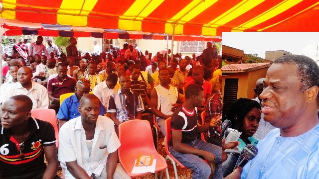 Assimi Koanda s'est adressé aux jeunes leaders du CDP (Ph : B24)