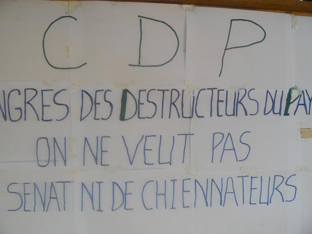 Message de pancarte. Ph.B24