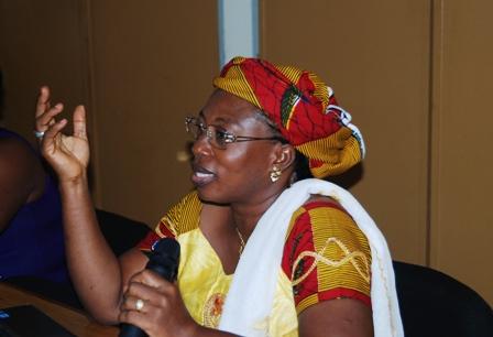 Mme Cissé/Sissoko Aicha, membre du groupe thématique. Ph.B24