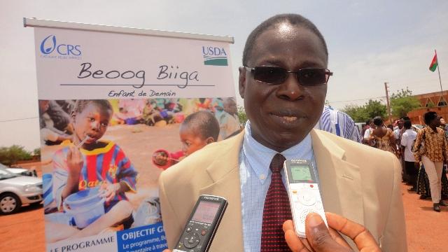 Moussa Dominique Bangré, Représentant résidant de CRS (Ph : B24)