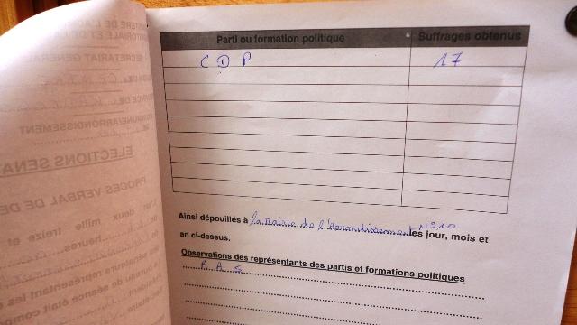 Les résultats des dépouillements étaient déjà affichés à l'arrondissement 10 de Ouagadougou (Ph : B24)
