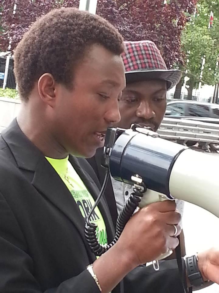 Le porte-parole des manifestants (Ph : B24)