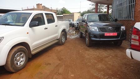 Vue de quelques véhicules réceptionnés par les étudiants mécontent de la cité Patte d'oie (Photo:B24)