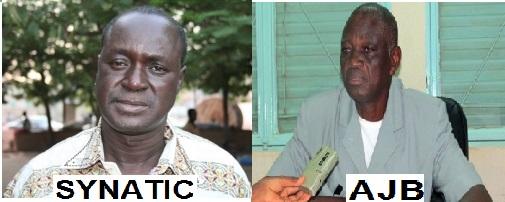 Justin Coulibaly du SYNATIC et Jean Claude Méda de l'AJB (Ph : DR)