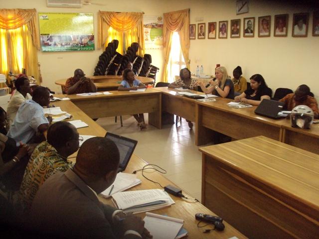 Les représentants du WSSCC, du SPONG et de diverses ONG (Ph. B24)