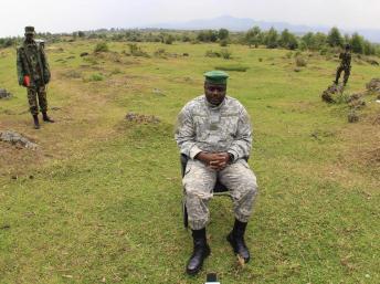 Bertrand Bisimwa, chef du M23 à Bunagana, le vendredi 2 août. REUTERS/James Akena
