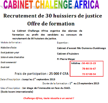 Cabinet Challenge Africa